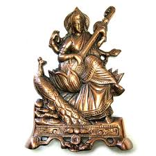 Купить <b>панно из силумина cарасвати</b> на троне 26 см в Ramayoga ...