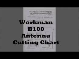 Workman B100 Coax Cable Cutting Chart