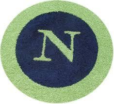 border monogram round rug zoom
