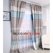 custom black striped living room baby blue curtains baby blue print blackout black out 90 of sunlights curtains curtains