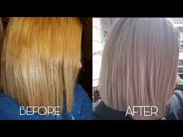 Wella Toner Chart Before And After How To Tone Brassy Hair With Wella T14 050 Youtube