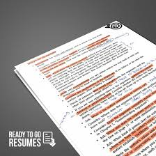 Resume Critique Ready To Go Resumes