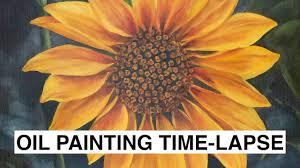 summer sunflower oil painting