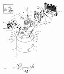 Air pressor parts diagram luxury craftsman 6hp air pressor parts
