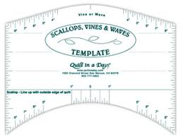 Scallops, Vines and Waves Template / Quilt in a Day / Rulers ... & Scallops, Vines and Waves Template / Quilt in a Day / Rulers & Templates Adamdwight.com