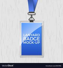 Lanyard Badge Design Lanyard Badge Id Card Template Blank Identity