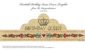 Birthday Crown Template Bnute Productions Free Printable Birthday