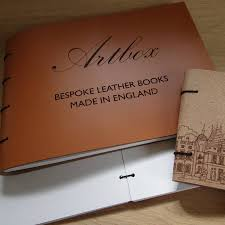 bespoke engraved leather guest book and photo al