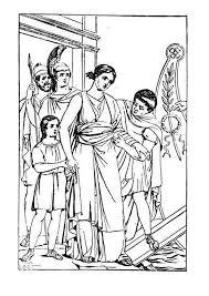 Kids N Fun Kleurplaat Romeinse Tijd Romeins Tafereel
