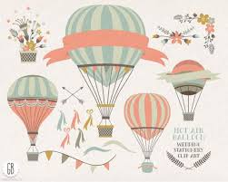 Hot Air Balloon Vintage Boho Baby Shower Invitation DigitalVintage Hot Air Balloon Baby Shower