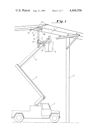 patent us4466506 wire lift device for high tension electric line patent drawing