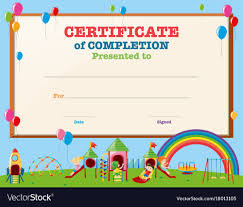 Children Certificate Template Children Certificate Design Vector Free Download Pic For Kids