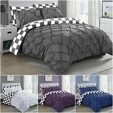 cotton pintuck bedding set reversible