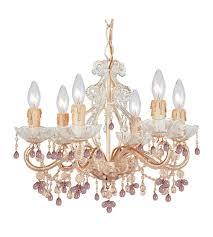 crystorama paris flea market 6 light mini chandelier in champagne 4507 cm