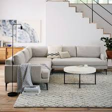 twill gray l shaped sectional