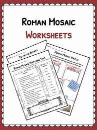 Roman 3 Roman Mosaics Facts Information Worksheets Teaching