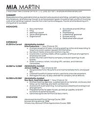 Administrative Assistant Summary Resumes Resume Full Guide Administrative Assistant Resume Samples