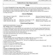 Sample Resume For Professional Medical Representative New Curriculum ...