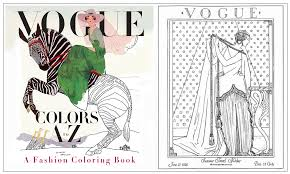 vogue colors a to z a fashion coloring book