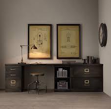 adorable restoration hardware office 1940s modular office triple storage desk system 2840