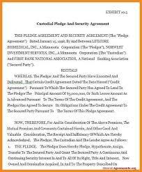 Custody Agreement Sample Bank Custody Agreement Printable Agreement Samples Printable