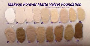mufe matte makeup forever mat velvet foundation review swatches of shades