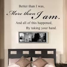 all of this happened by taking your hand romantic couples quote wall decal vinyl sayings bedroom decor 10 x 23 xs in wall stickers from home garden on  on wall art sayings for bedroom with all of this happened by taking your hand romantic couples quote wall