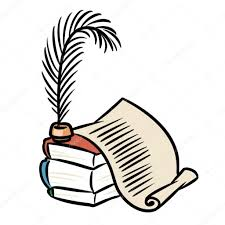 books scroll pen cartoon ilration isolated image photo by efengai