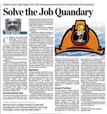 vedanta resources news media interviews articles 12 14 solve the job quandary economic