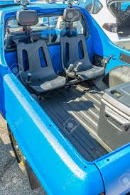 Dual Seats In The Back Of A Pickup Truck For Offroad Use. Custom ...
