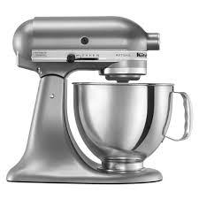 kitchenaid 4 5 qt mixer. kitchenaid ksm150pscu artisan series contour silver 5 quart stand mixer kitchenaid 4 qt