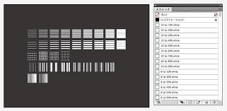 Illustratorのベーシックパターン線点の白データをつくりました と