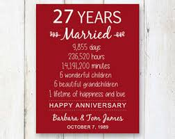 27th anniversary etsy Wedding Anniversary Gifts Under 200 27th wedding anniversary gift for parents 27 years wedding anniversary gift for women wife mother Gifts for Women $200