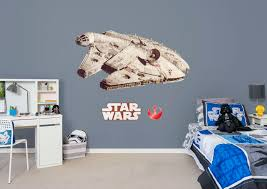 millennium falcon giant officially licensed star wars removable wall decal fathead wall decal