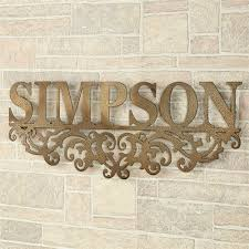 >kinship antique gold family name personalized metal wall art sign kinship name metal wall art sign antique gold