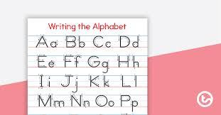 writing the alphabet chart