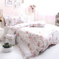 girls queen bedding sets cotton luxury queen bedding rose fl bedding set elegant lace country style