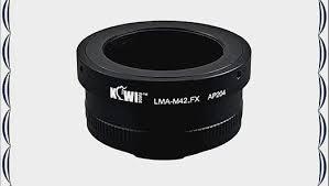 KIWIFOTOS <b>LMA</b>-M42_FX <b>M42</b> Thread Lens to FUJIFILM FUJIX ...