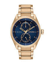watches for men hudson s bay eco drive rose goldtone bracelet watch