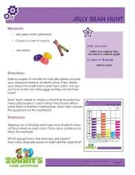 Jelly Bean Colour Chart Easter Math Activity Jelly Bean Hunt