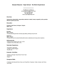 Professional Summary For Resume No Work Experience Resume Examples Job Experience First Job Resume Job