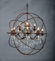 orb crystal chandelier restoration hardware orb smoke crystal chandelier