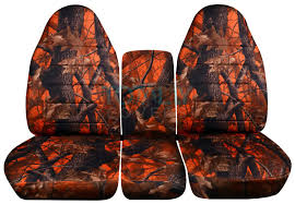 dodge ram 40 20 40 orange real tree camo seat covers