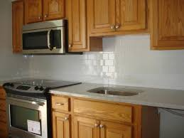 Backsplash Tile For Kitchen Clean And Simple Kitchen Backsplash White 3x6 Subway Tile And