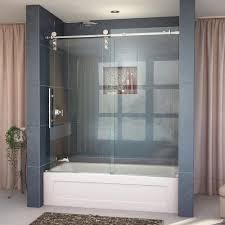 image of dreamline enigma z 56 in x 62 in frameless sliding tub door in