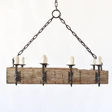 large rustic beam chandelier