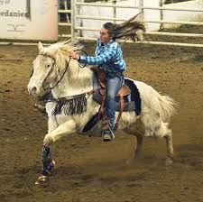 Photo: Barrel racing at the junior rodeo