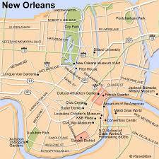 garden district new orleans walking tour map. Fine District New Orleans Map  Tourist Attractions In Garden District Walking Tour