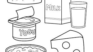Healthy Food Coloring Pages For Preschoolers Colouring Print Pdf