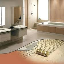 Heated Bathroom Floor Fascinating Heated Floors 48 R Heated Floors In Basement Vehiclemandi